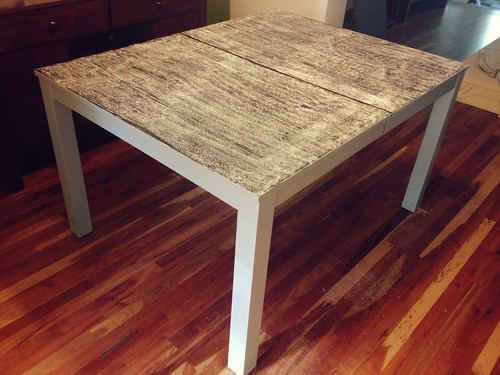 dining table: chalk priming