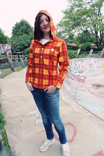 Queens Of Sounds Yello check Hoody Shirts - Susanna