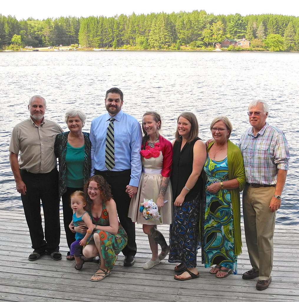 Family after ceremony