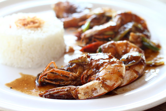 Nikoi Island: Black Pepper Prawn with Rice