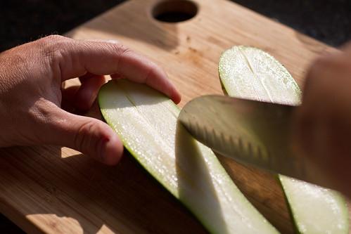 Cutting Zucchini