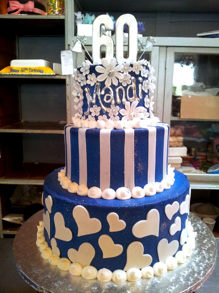 3 Tier Wicked Chocolate Cake Iced In Royal Blue Butter Ici Flickr