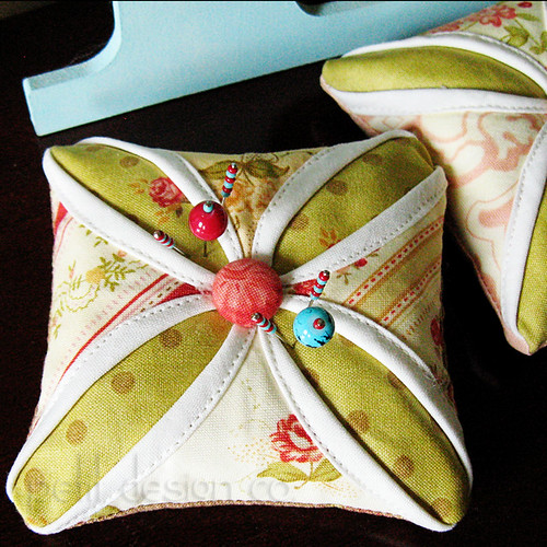 Cathedral Window Pincushion