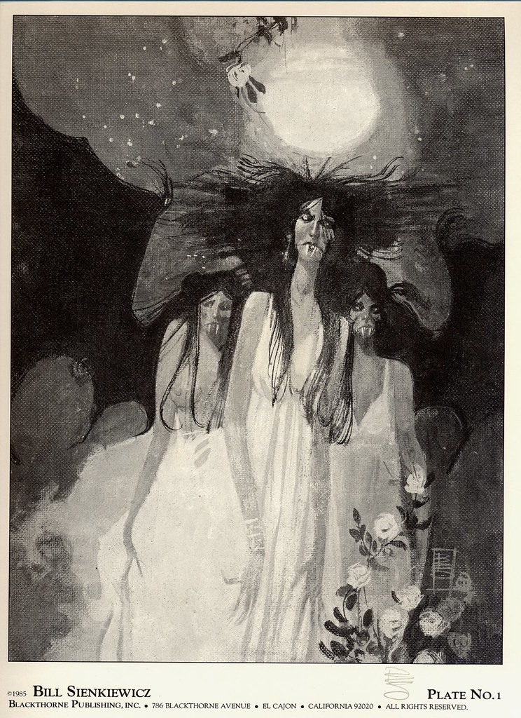 Bill Sienkiewicz - Vampyres (Blackthorne Publishing, Inc 1985) Plate 1