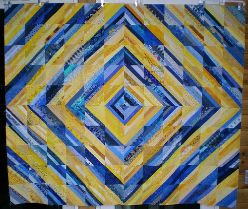 Wanda 60x70 blue and yellow strings top