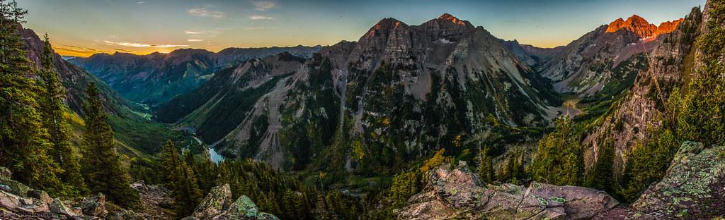 Aspen Highlands Pyramid Peak And The Maroon Bells At Sunr