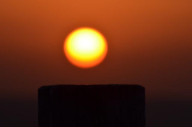Sol desenfocado