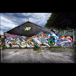 The Ask Crew in Bristol #wallkandy #askcrew #graffiti #streetart #art #mural #bristol #bedminster