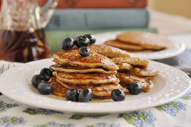 short stack whole grain pancakes