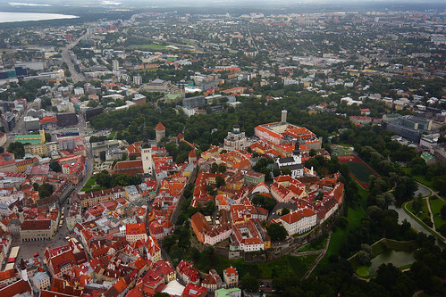 Toompea from Helicopter