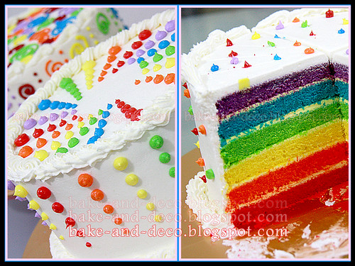 Italian Rainbow Cake with Special Cream Cheese
