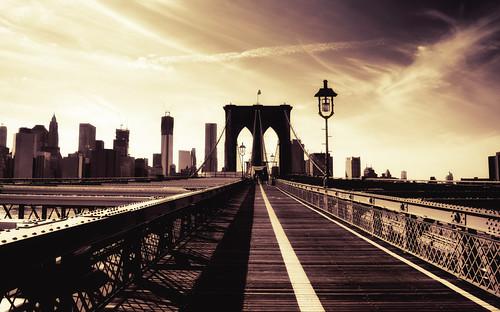Brooklyn Bridge and the New York City Skyline