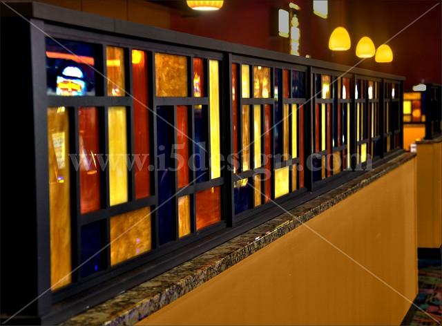 Custom décor elements half wall interior