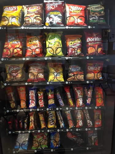 Snack machine at work