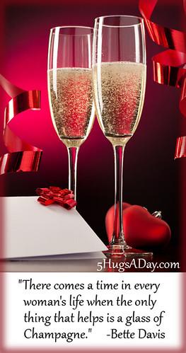 Champagne Evening via @5hugsaday | 5HugsADay.com