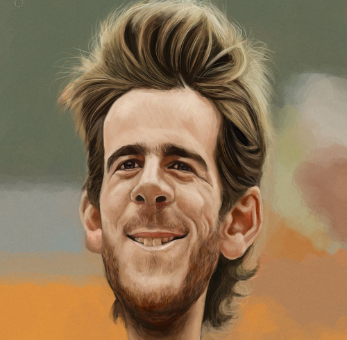 digital caricature sketch of Juan Martín del Potro - 3