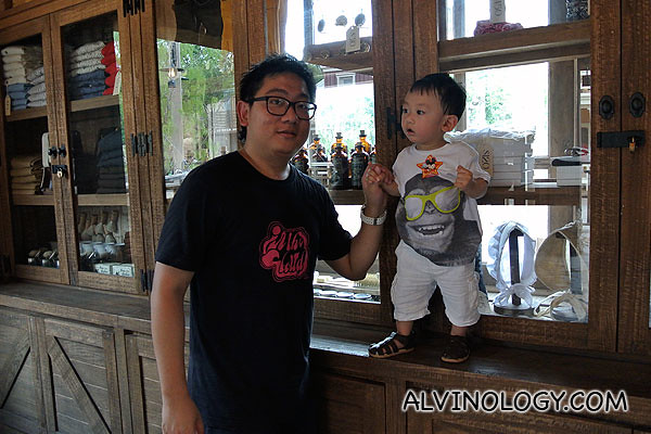 Asher with daddy