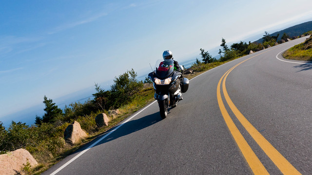 Riding up Cadillac Mountain with the 2012 BMW R 1200 RT