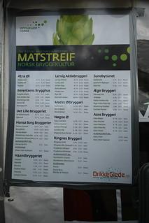 Beer meny @Matstreif