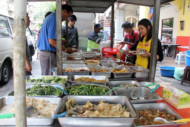 The open air buffet line