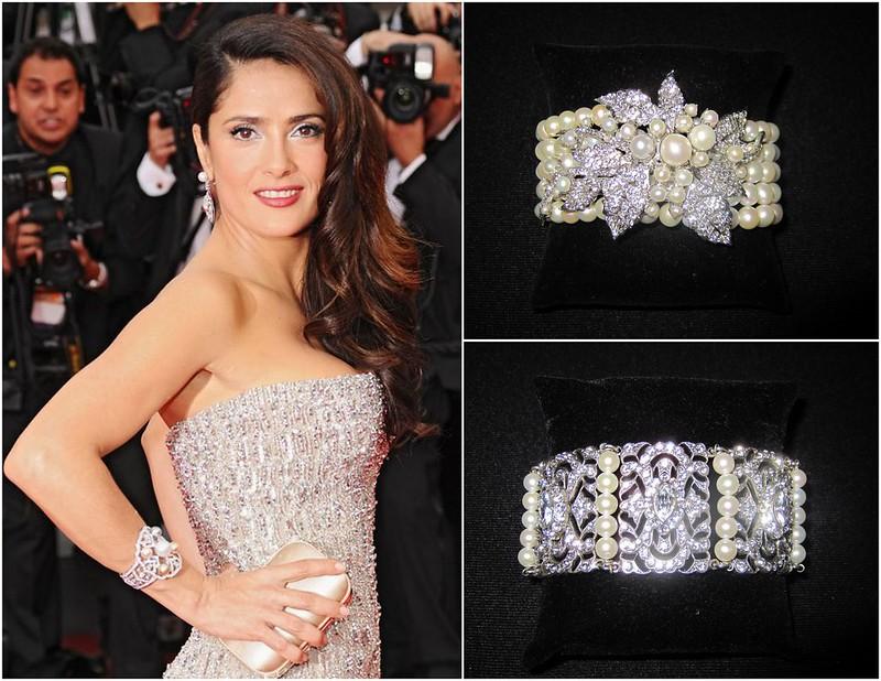 classic pearl bridal bracelet, 5-strand pearl bridal bracelet, crystal and pearl bridal bracelet