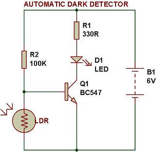 dark  light sensor using transistor buildcircuit LED Dimmer Circuit Dimmers LED Lights Circuit