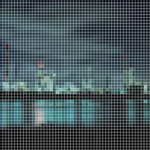 四日市工場夜景 自作ソフトでドット絵加工