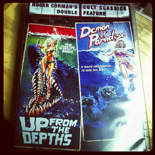 Up From The Depths. The Jaws-ripoff I'm in along with mom, is now on DVD. Terrible.