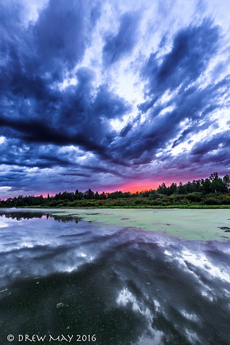 blue trees summer orange landscape drewmayphoto drewmayphotography lakes alberta lakeisle sky canada refection sunset refections clouds 124 lacstannecounty
