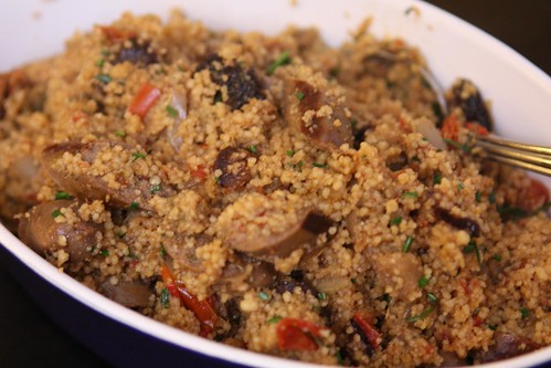 Lamb Sausage and Eggplant Couscous