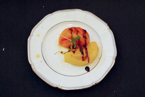 Jeremy Berlin (Church & State) heirloom tomatoes, balsamic vinegar