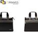 I´Praves design handbag in black and brown