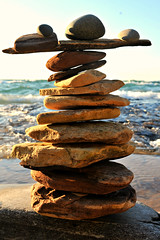 A very balanced pile of rocks