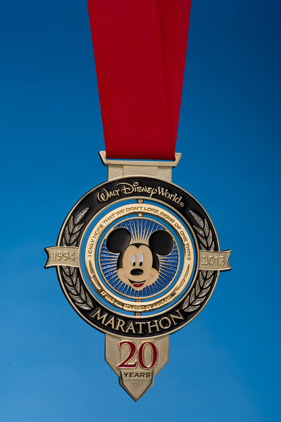 New 20th Anniversary Walt Disney World Marathon Medal Revealed