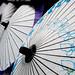 Rice Paper Umbrellas in Kyoto, Japan
