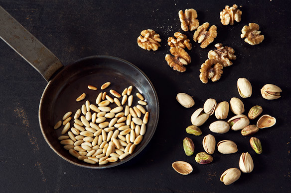 nuts for pesto