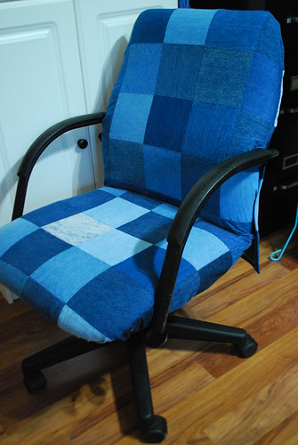 Denim Desk Chair Cover | Flickr - Photo Sharing!