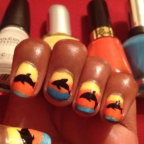 Dolphin nails!