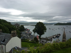 Looking down at Tobermory Harbour