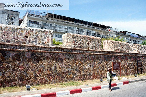 prison wall - songkhla thailand