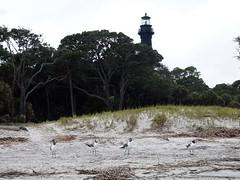 Old lighthouse of Huntington Island (South Carolina, USA 2012)