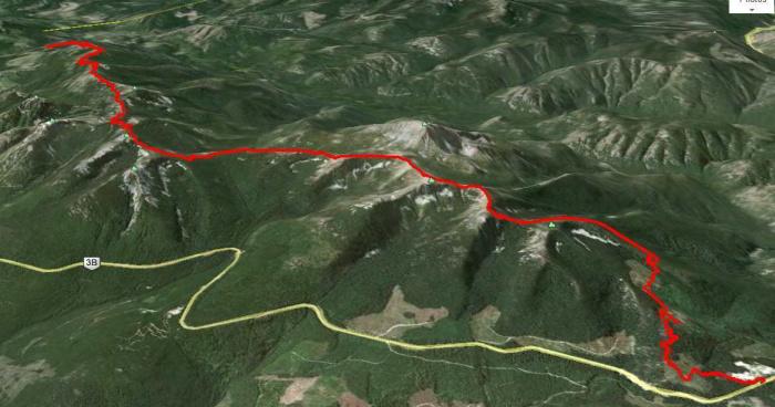 Seven Summits satellite view