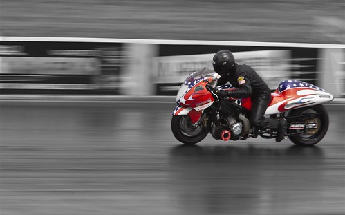 """Drag bike"" Selective colouring is a great way to bring out your point of interest in the shot"