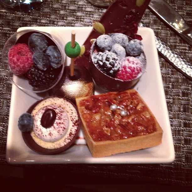 Last night's desert tray
