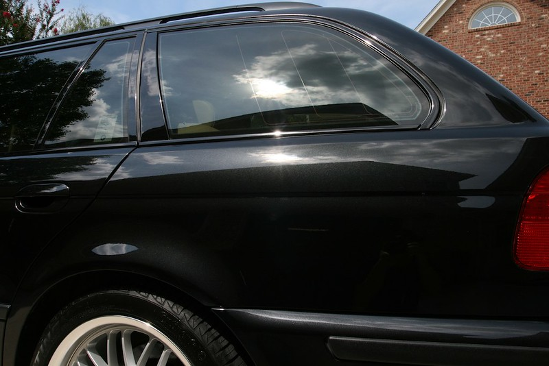black bmw wagon