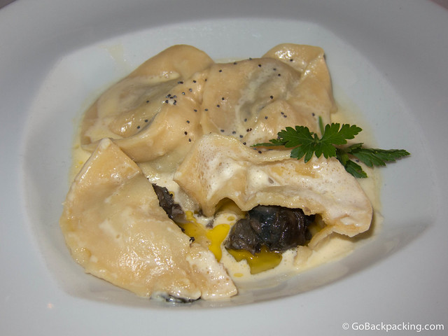 Escargot-stuffed Tortellini