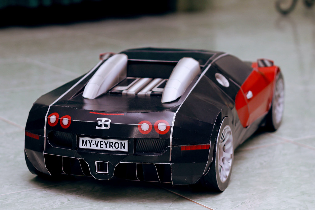Bugatti Veyron Papercraft Video Build Your Own Papercraft