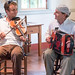 Louis Michot and Tommy Michot at Acadian Culture Day jam session, Vermilionville, Aug. 12, 2012
