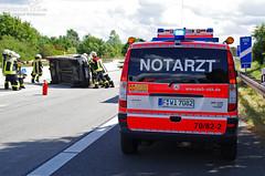 Pkw überschlagen A671 Hochheim 25.08.12