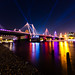 Hungerford Footbridge and Strobes by kayodeok